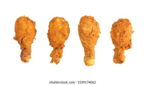 4 pegatinas de tambor de pollo aisladas