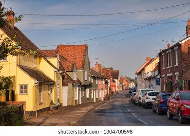 4 July 2015:  Nayland, Suffolk, England, UK - Street scene in this beautiful Suffolk village.