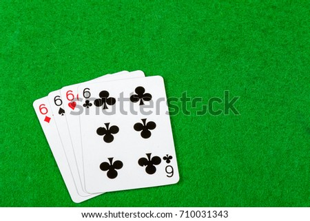 4 of a kind playing cards Sixes
