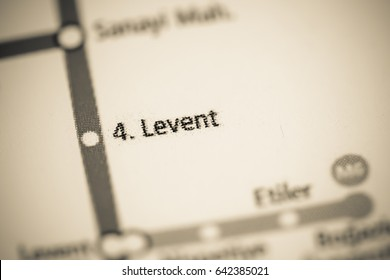 4 Levent Station. Istanbul Metro map.