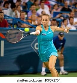 WASHINGTON-Â?AUGUST 4: Magdalena Rybarikova (SVK) defeats top seed Anastasia Pavlyuchenkova (RUS, not pictured) to win the championship at the Citi Open on August 4, 2012 in Washington.