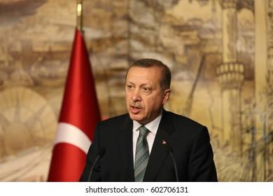 4 March 2013. Istanbul, Turkey. Recep Tayyip Erdogan 12th President of Turkey.