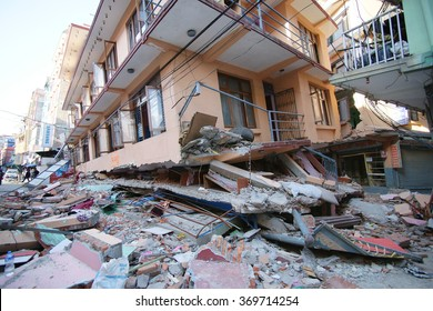 4 May 2015, Building collapsed due to 7.8 M earthquake. Kathmandu, Nepal