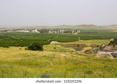 4 May 2018 Syrian real estate close to the Israeli border as seen from the Northern Golan Heights in Northe East Israel