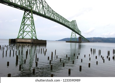 4 mile long Astoria-Megler bridger to Washington State Astoria Oregon waterfront district