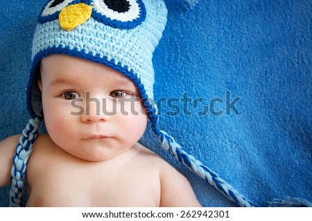 4 Month Old Baby Owl Hat Stock Photo (Edit Now) 262942301 - Shutterstock 375888b107c