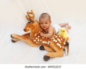 4 Months Old Baby Boy Playing Stock Photo Edit Now 694512220