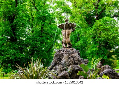 4 Nov 19. Melbourne, Australia. The River God fountain was one of the first major statues in Fitzroy gardens and was erected in 1862.