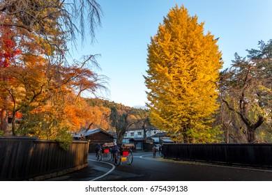 4 November 2015 kakunodate akita  ,Kakunodane know as samurai district in autumn season 4 November 2015
