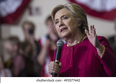 4 October 2016 - Harrisburg, USA - Secretary of State Hillary Clinton holds campaign rally in Harrisburg.