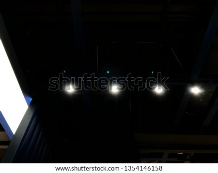 Points Of Light In Dark Night Of >> 4 Points Light On Dark Background Stock Photo Edit Now 1354146158
