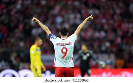 4 SEPTEMBER, 2017 - WARSAW, POLAND: Football World Cup Rusia 2018 qualification match Poland - Kazakhstano/p Robert Lewandowski (Poland)