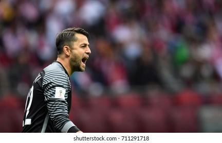 4 SEPTEMBER, 2017 - WARSAW, POLAND: Football World Cup Rusia 2018 qualification match Poland - Kazakhstano/p Lukasz Fabianski (Poland)