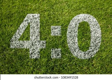 4:0 on soccer meadow
