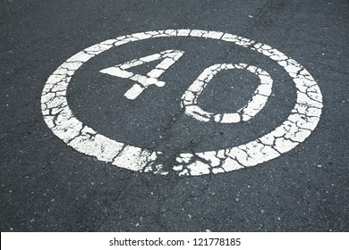 40 sign on the road