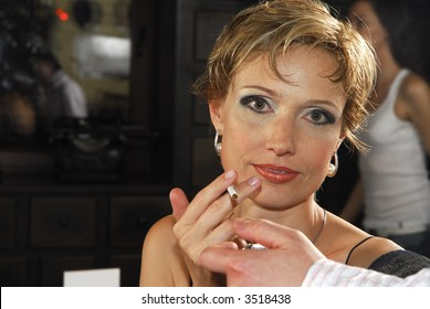 40 years old woman with cigarette 3