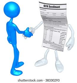 401K Form Handshake