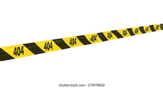 404: Page Not Found Tape Line at Angle