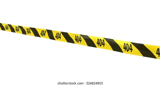 404 Page Not Found Tape Line at Angle