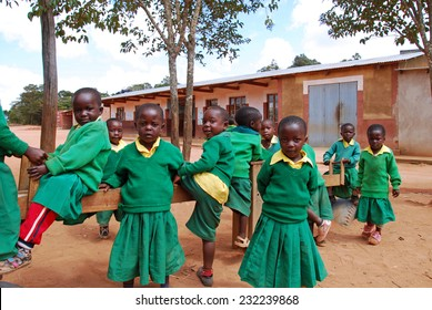 """4-08-2014""-""Village of Pomerini""-Tanzania-Africa - The game of unidentified kindergarten children built in the Franciscan Mission of the Village of Pomerini-Many of these children are suffering from AIDS."