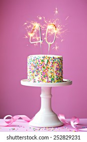Marvelous 40Th Birthday Cake Images Stock Photos Vectors Shutterstock Funny Birthday Cards Online Elaedamsfinfo