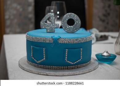 Enjoyable 40Th Birthday Cake Images Stock Photos Vectors Shutterstock Funny Birthday Cards Online Aeocydamsfinfo