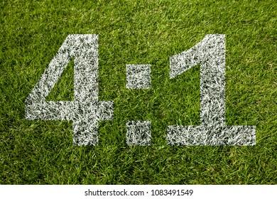 4:1 on soccer meadow