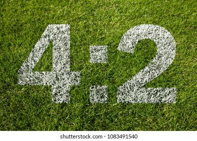 4:2 on soccer meadow