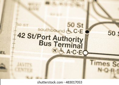 42 St/Port Authority Bus Terminal. Eigth Avenue Line. NYC. USA