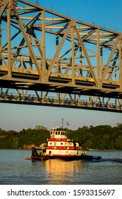 4/28/19 - VICKSBURG, MISS., USA - Vicksburg Bridge is a cantilever bridge carrying Interstate 20 and U.S. Route 80 across the Mississippi River between Delta, Louisiana and Vicksburg, Mississippi