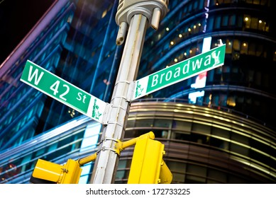 42nd street and Broadway intersection in New York's Times Square