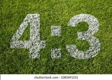 4:3 on soccer meadow