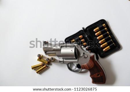 44 magnum revolver handgun arm metal stock photo edit now