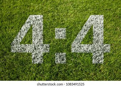 4:4 on soccer meadow