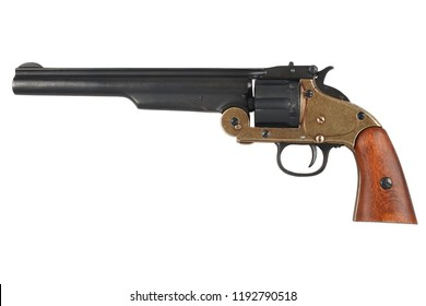 .44 smith and wesson single action revolver isolated on white background
