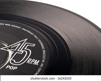 45 rpm vinyl vintage pop record