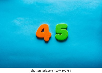 45 Years Old Celebrating Classic Logo Colored Happy Numbers Greetings Celebrates Card Traditional