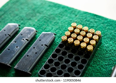 .45mm bullets,ammo and magazine.