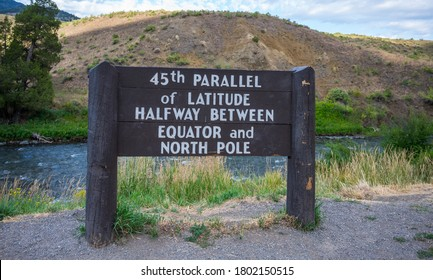 45th Parallel of Latitude in Yellowstone National Park