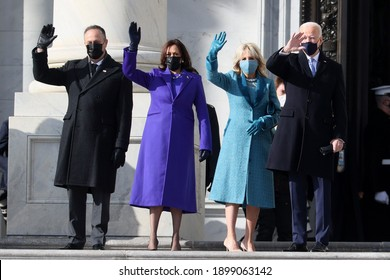 The 46th President of the United States and the first woman Vice President, Kamala Harris, was sworn in white House. Washington DC, USA. 21 Of January 2021
