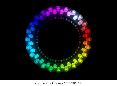48 colorful LEDs are arranged in the ring.