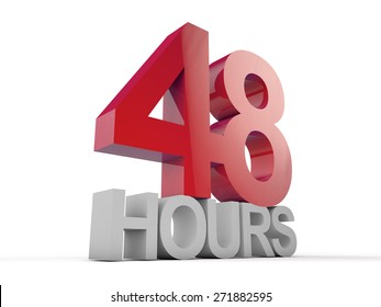 48 Hours over white background