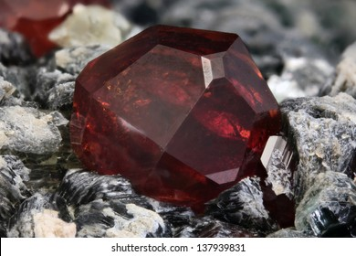 4.84 mm Hessonite crystal from Bellecombe, Aosta valley, Italy