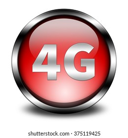 4G technology button isolated