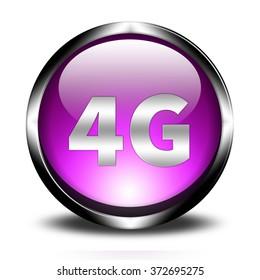 4G technology button sign