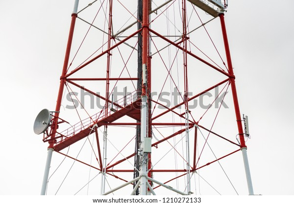 4g Tv Radio Tower Parabolic Antenna Stock Photo (Edit Now