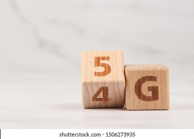 4G upgrade to 5G mobile communication technology concept