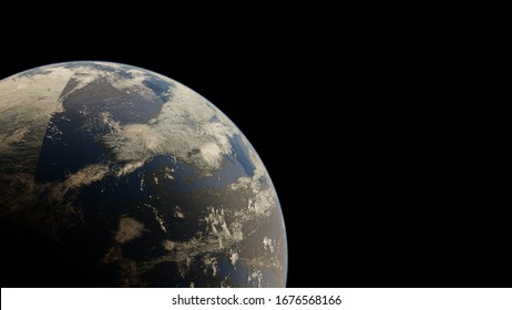 4k Earth in outer space