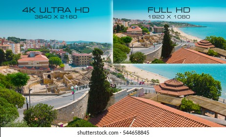 4K Ultra HD vs Full HD 1920x1080 comparison tv resolution