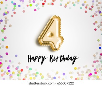 4th Birthday Invitation Stock Images RoyaltyFree Images Vectors